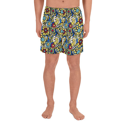 Primary Colors Men's Athletic Long Shorts