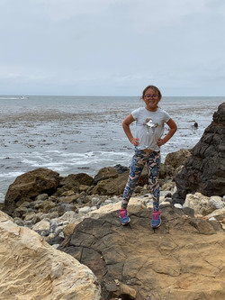 Addyson on the Rocks of California Coast