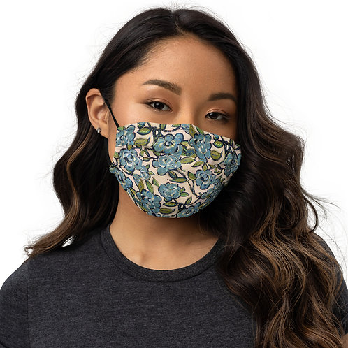 Blue Roses Face mask( small roses pattern)