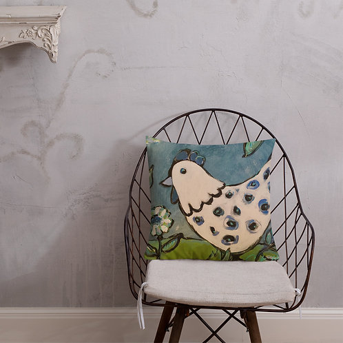 Blue Chicken Pillow
