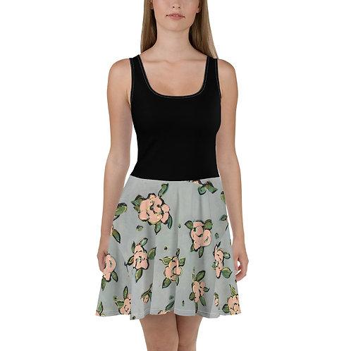 Pink Roses Skater Dress