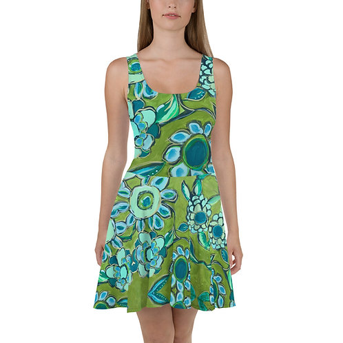 Dance of Turquoise & Sage Sun Dress