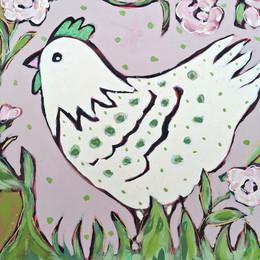 Menagerie Suite: White Mama Bird