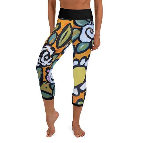 Wall Flowers ( B0LD)  Yoga Capri Leggings