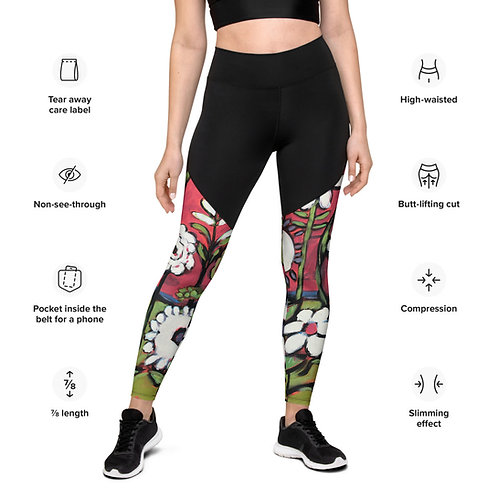 Red Hot World  Compression fabric Sports Leggings