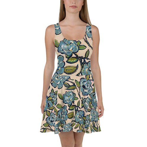 Blue Roses All Over  Dress