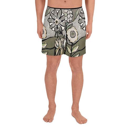 White Pepper Men's Athletic Long Shorts