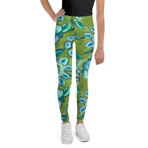 Dance of Turquoise & Sage Youth Leggings