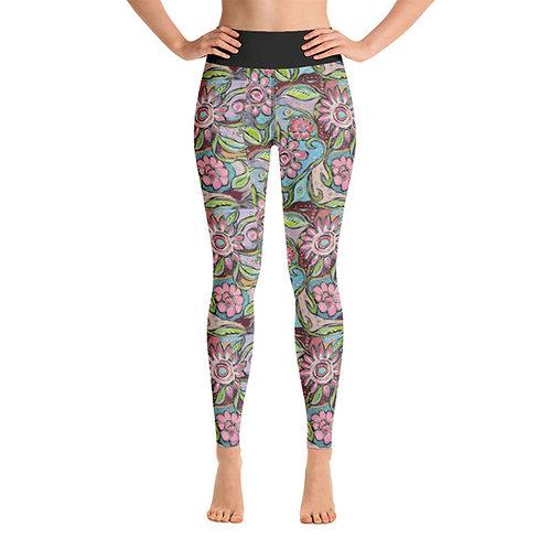 New Beginnings ( Small Pattern) Yoga Leggings