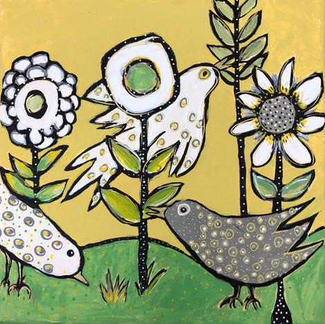 Morning Music in English Yellow Garden