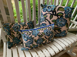 Blue Roses Assorted Pillows
