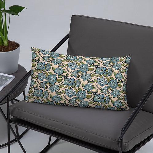 Blue Roses Basic Sateen Pillow ( small)