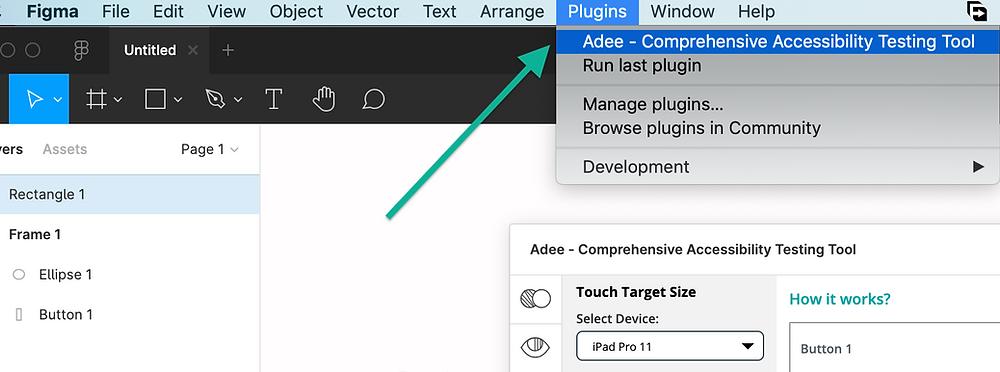 plugin in Figma and Sketch menu