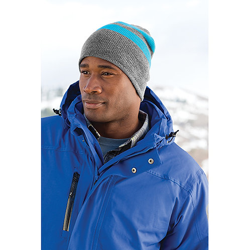 Port & Company® Fleece-Lined Striped Beanie Cap [MB]