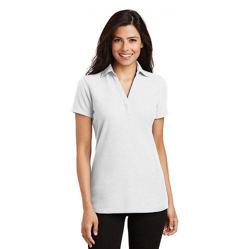 Port Authority® Ladies Silk Touch™ Y-Neck Polo [SAF]