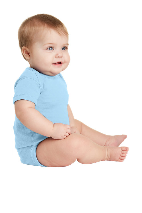 Infant Short Sleeve Baby Rib Bodysuit [BFC]