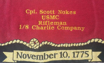 sample of embroidered quilt