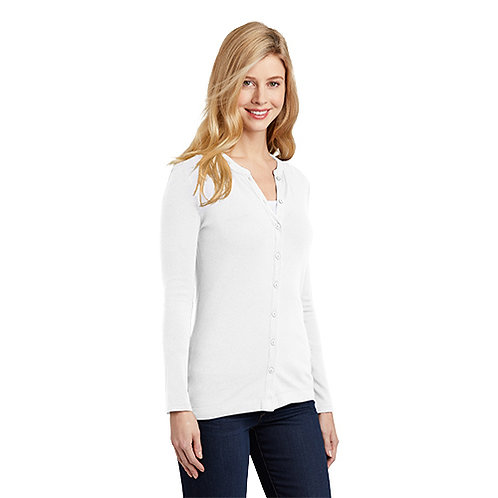 Port Authority® Ladies Concept Stretch Button-Front Cardigan [MB]