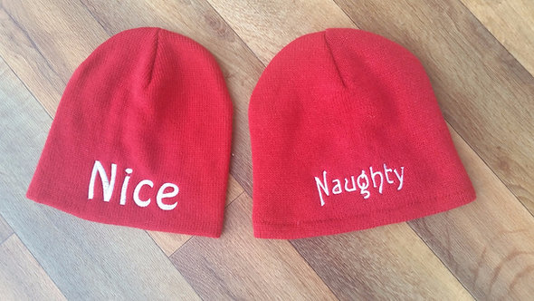 naughty or nice beanie