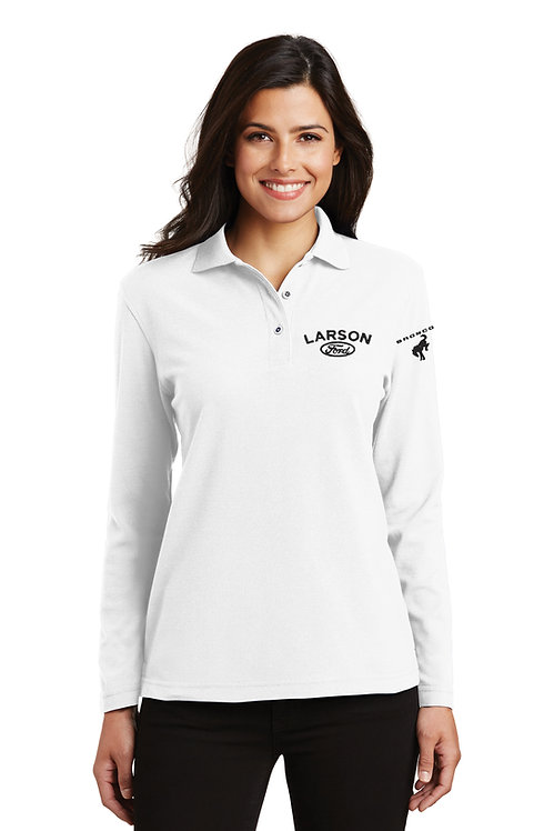 Port Authority® Ladies Silk Touch™ Long Sleeve Polo [LF]