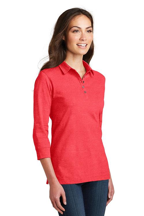 Ladies' 3/4-Sleeve Meridian Cotton Blend Polo [BFC]