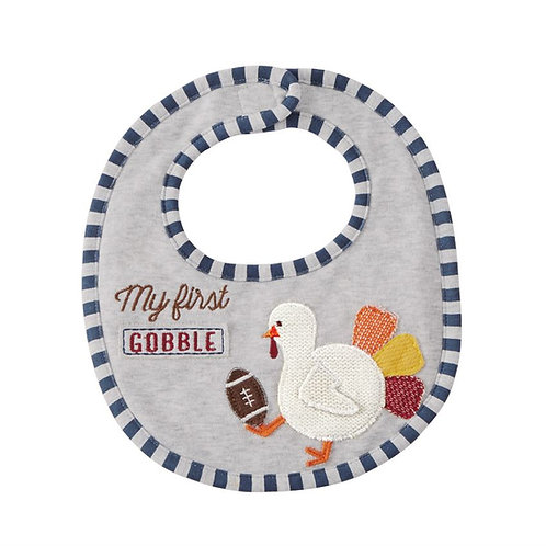 first gobble turkey football bib