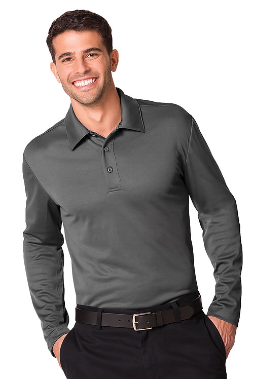 Men's Silk Touch Performance Long Sleeve Polo [BFC]