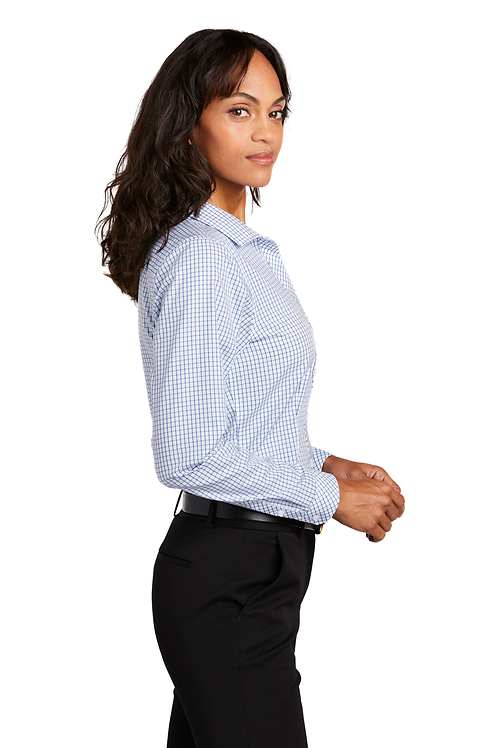Red House ® Ladies Open Ground Check Non-Iron Shirt [MB]