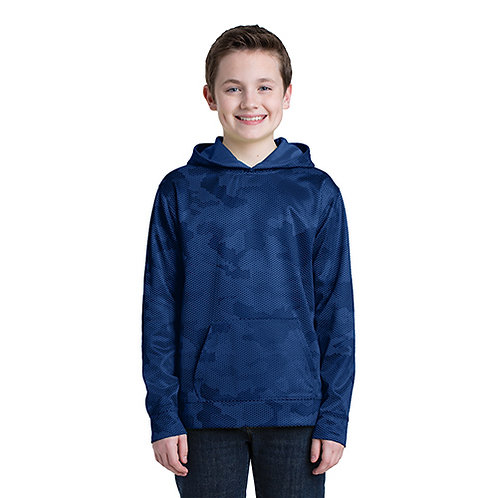 Sport-Tek® Youth Sport-Wick® CamoHex Fleece Hooded Pullover [MB]
