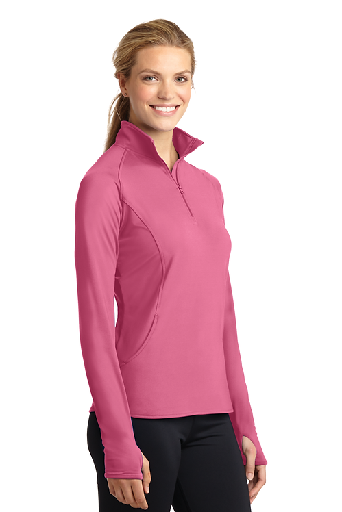 Sport-Tek® Ladies Sport-Wick® Stretch 1/2-Zip Pullover [LF]