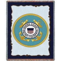 coast guard throw blanket