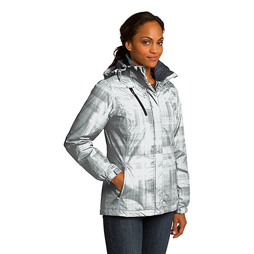 Port Authority® Ladies Brushstroke Print Insulated Jacket [MB]