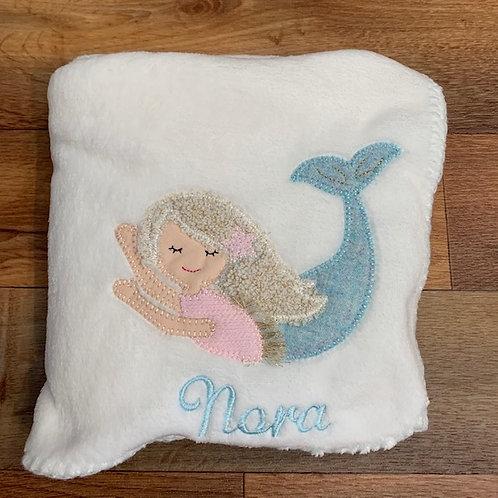 mermaid fleece blanket