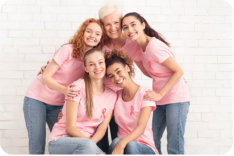 volunteers-in-t-shirts-with-pink-ribbons