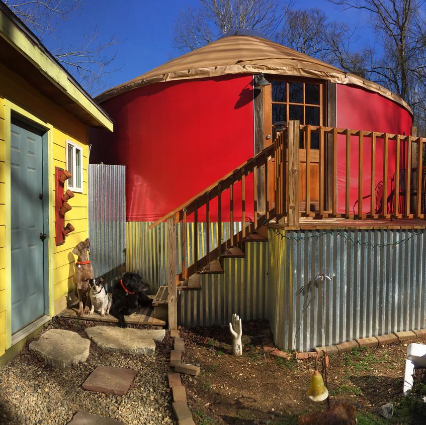 The red yurt