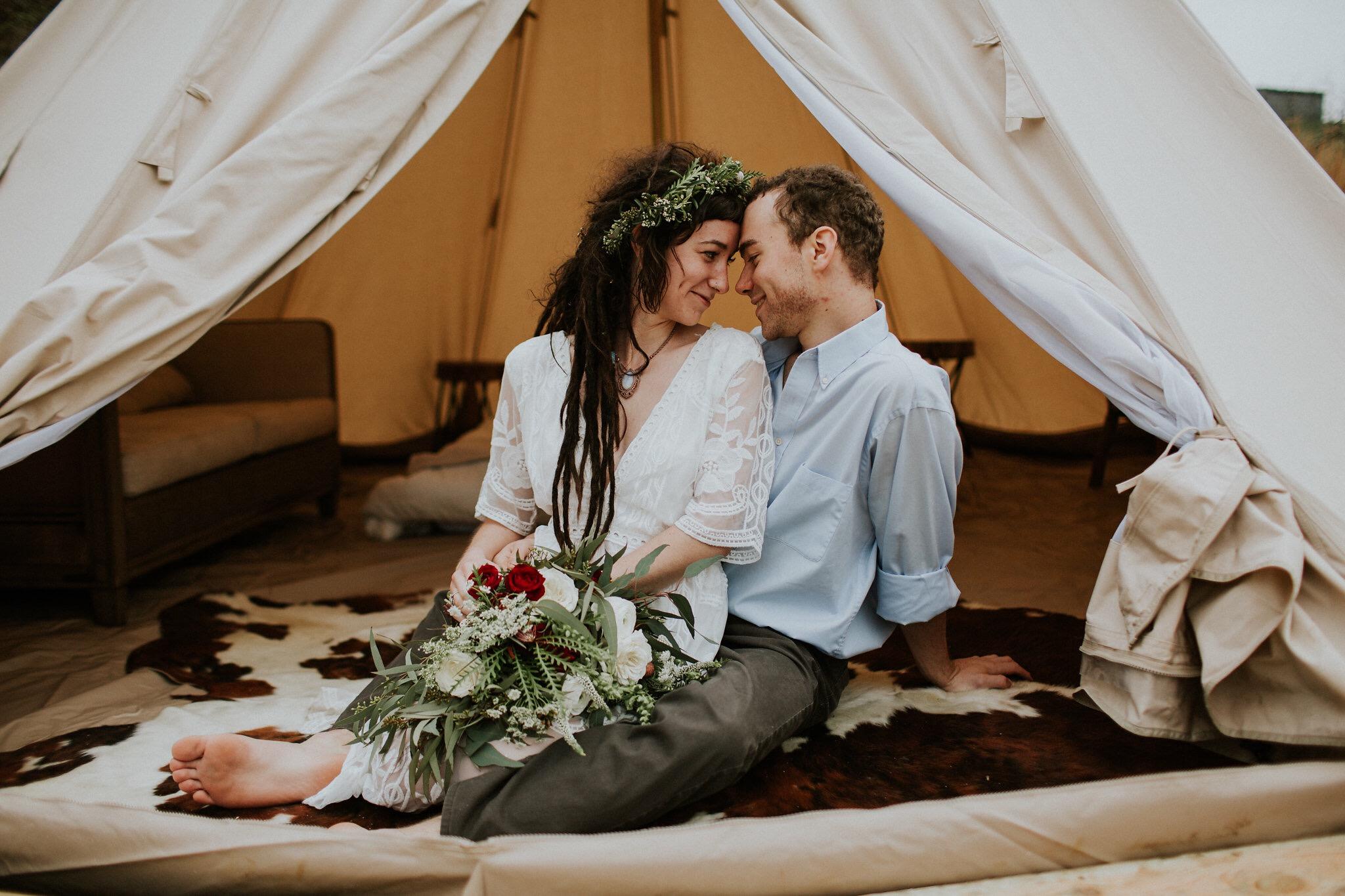 Asheville Glamping- Bell tent