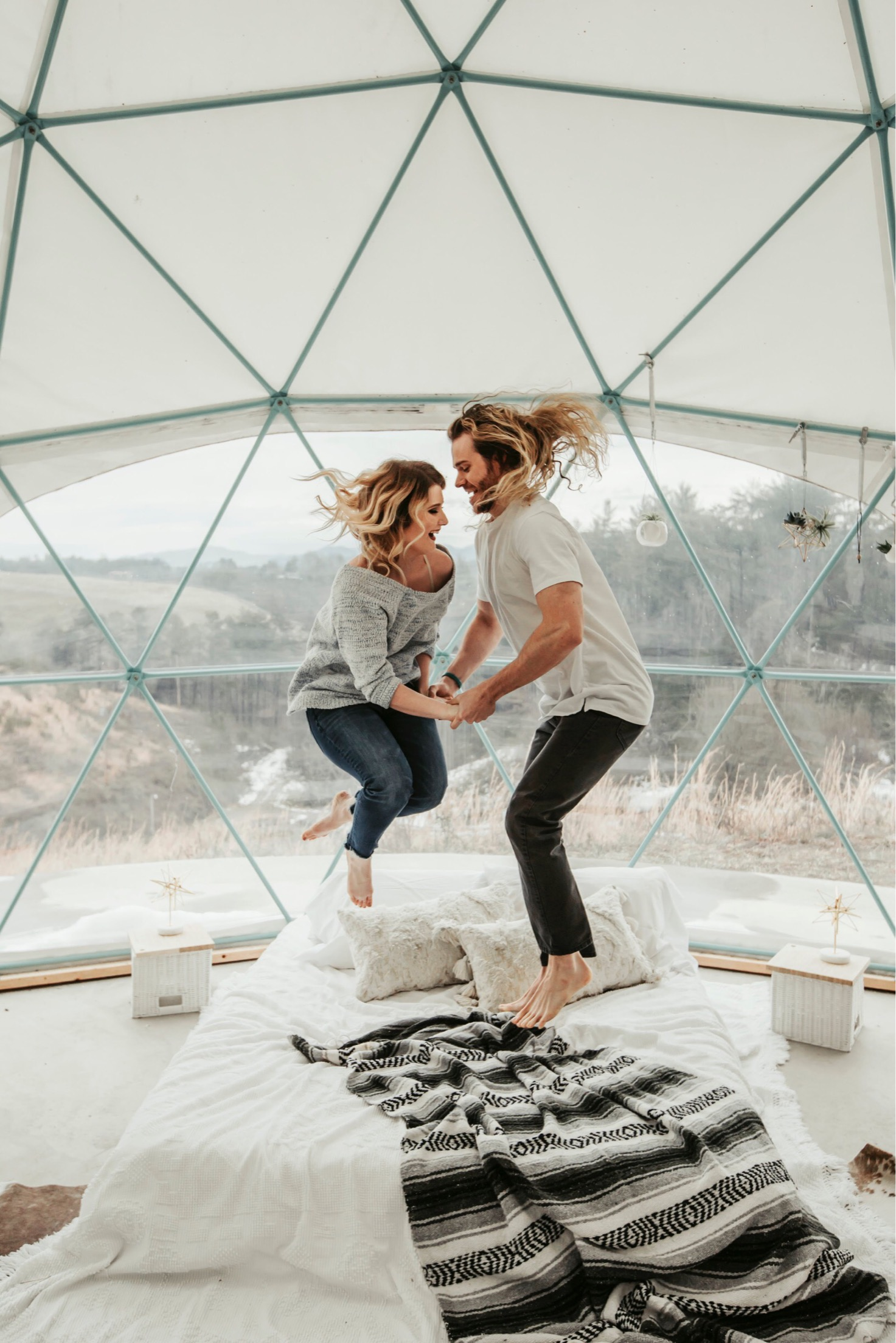 Asheville Glamping in North Carolina, Tree houses and