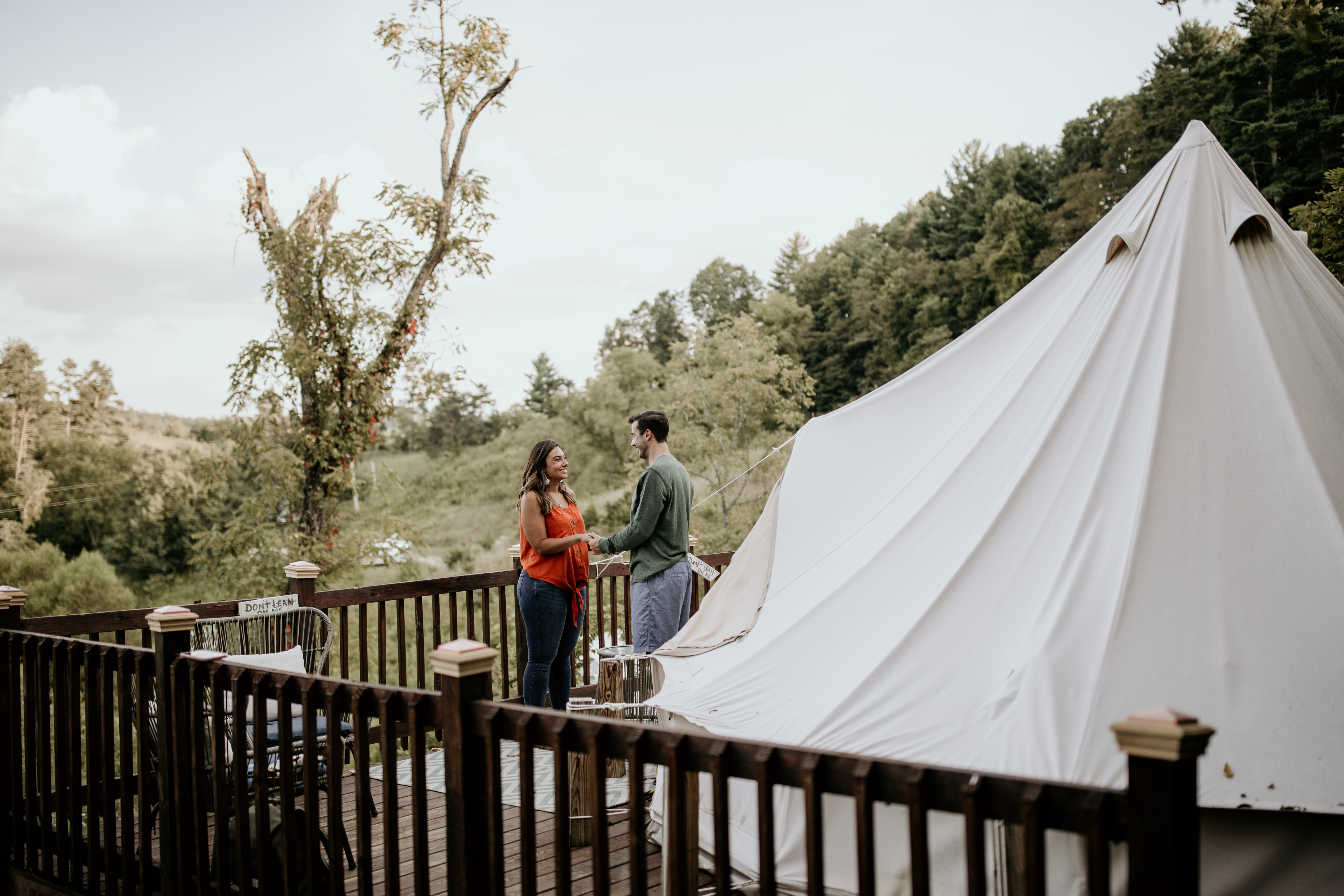 Deluxe bell tent Asheville Glamping