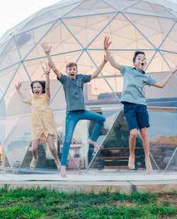 Asheville Glamping Dome 3