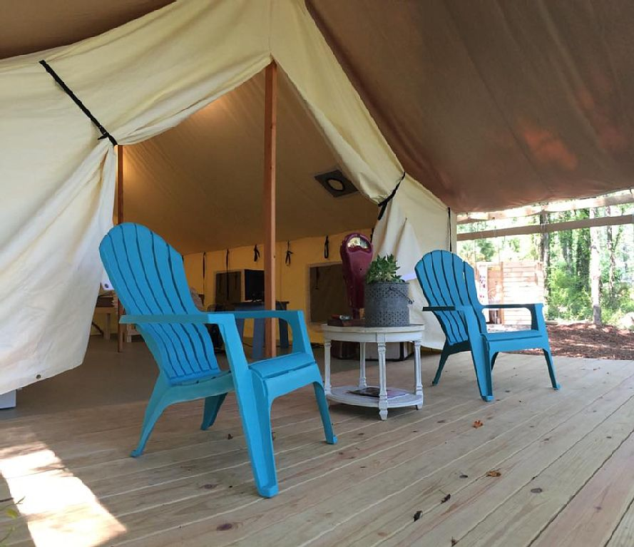 Tent Cabin & Book a Room at Asheville Glamping NC
