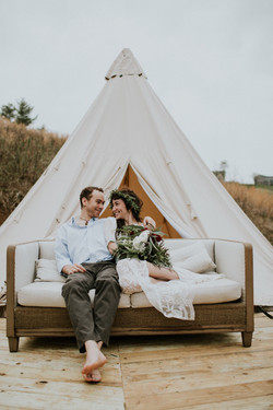 Asheville Glamping bell tent