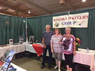 9 of the Sonora Writers Group Authors present their Novels at the Motherlode County Fair  July 7, 8