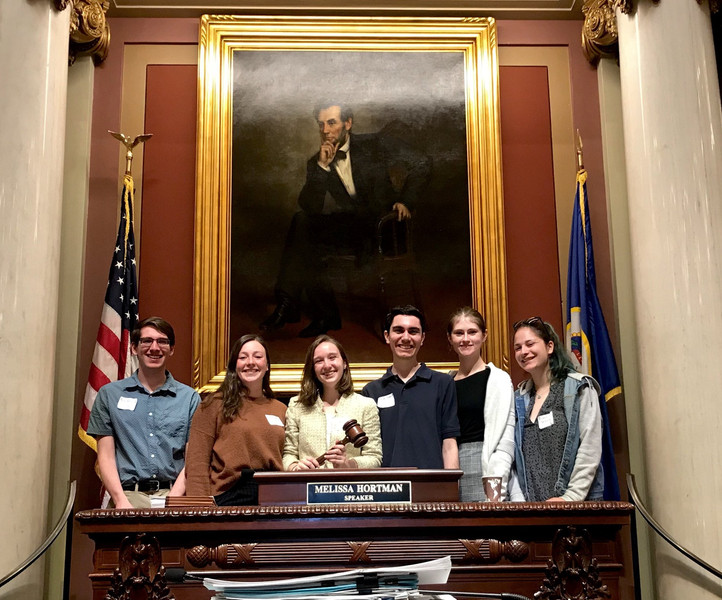 Carleton College Democrats at 2019 Lobby Day, MN State Capitol
