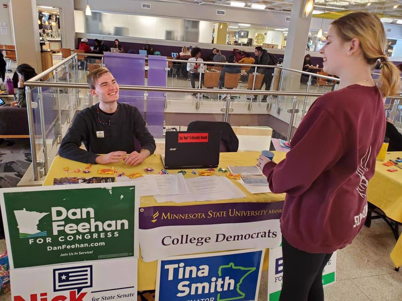 Voter Registration at MSU Mankato
