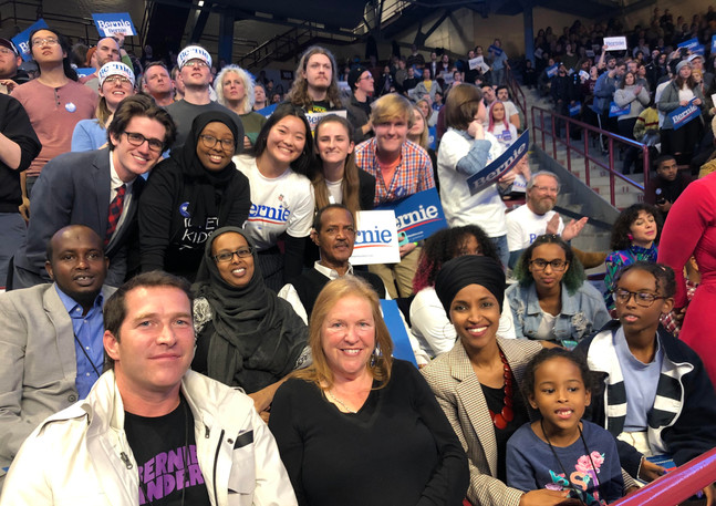 With Jane Sanders and Congresswoman Ilhan Omar