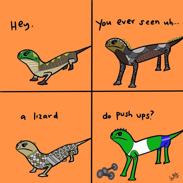 Lizard Pushups