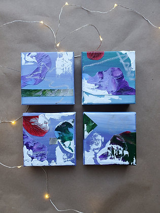 Winterly Blues Art Block Set