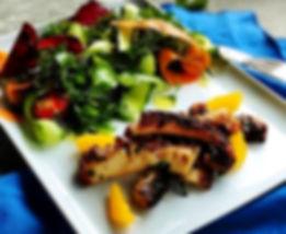 Santorini Sofra´s meze kolgrills mat från menyn