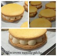 Macarons Vanille Pêche #1.JPG