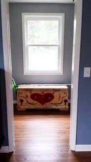 Master bedroom and adjacent bedrooms after renovation. Copyright 2015 Marla Baxter Sanderson - SockOnARooster.com